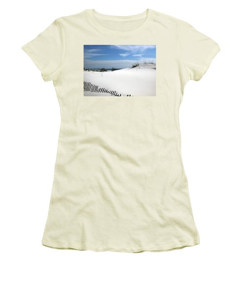 Women's T-Shirt (Junior Cut) featuring the photograph Sand Dunes Dream by Marie Hicks