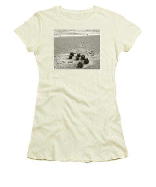 Sand Fun Women's T-Shirt (Junior Cut) by Raymond Earley