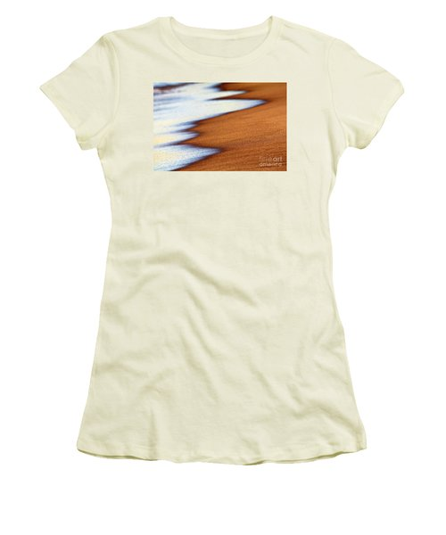 Sand And Waves Women's T-Shirt (Junior Cut) by Tony Cordoza