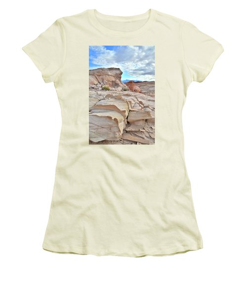 Sandstone Staircase In Valley Of Fire Women's T-Shirt (Junior Cut) by Ray Mathis