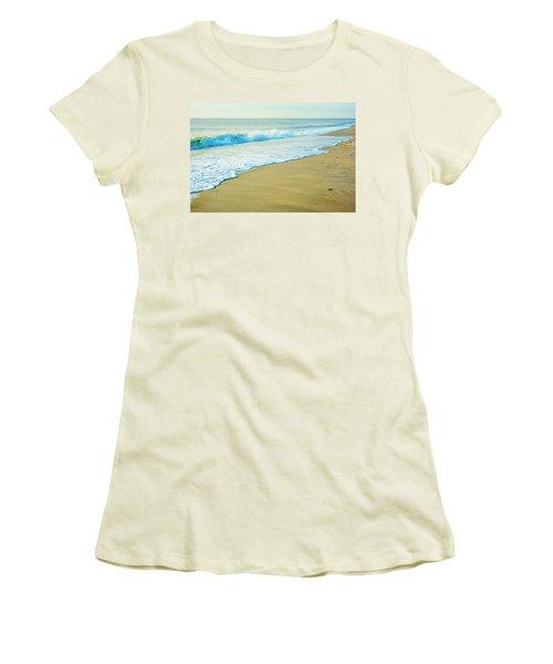 Sandy Hook Beach, New Jersey, Usa Women's T-Shirt (Athletic Fit)