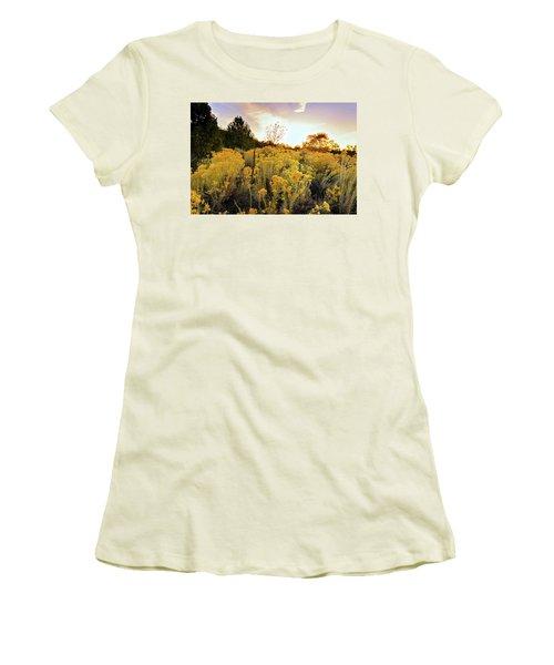 Women's T-Shirt (Junior Cut) featuring the photograph Santa Fe Magic by Stephen Anderson