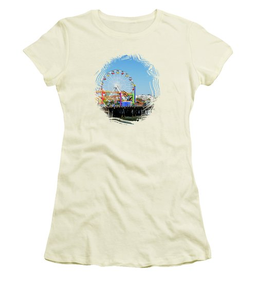 Santa Monica Ferris Wheel Women's T-Shirt (Athletic Fit)