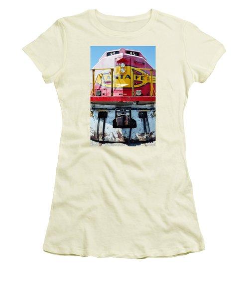 Sante Fe Railway Women's T-Shirt (Junior Cut) by Kyle Hanson