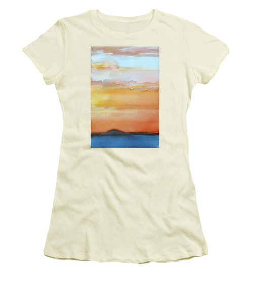 Sapphire Sunrise Autumn Women's T-Shirt (Athletic Fit)