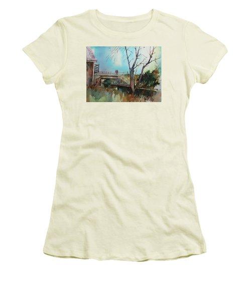 Sara's Viewi Of The Jones River Women's T-Shirt (Junior Cut) by P Anthony Visco