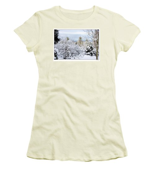 Saratoga Winter Scene Women's T-Shirt (Junior Cut) by Lise Winne