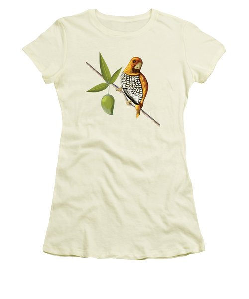 Scaly Breasted Munia D Women's T-Shirt (Junior Cut) by Thecla Correya