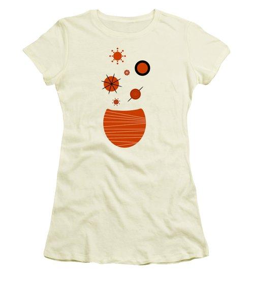 Women's T-Shirt (Junior Cut) featuring the painting Scandinavian Floral by Frank Tschakert