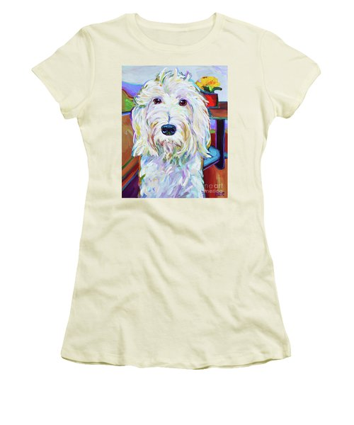 Women's T-Shirt (Junior Cut) featuring the painting Schnoodle by Robert Phelps