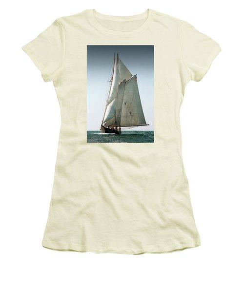 Schooner Ernestina Women's T-Shirt (Athletic Fit)
