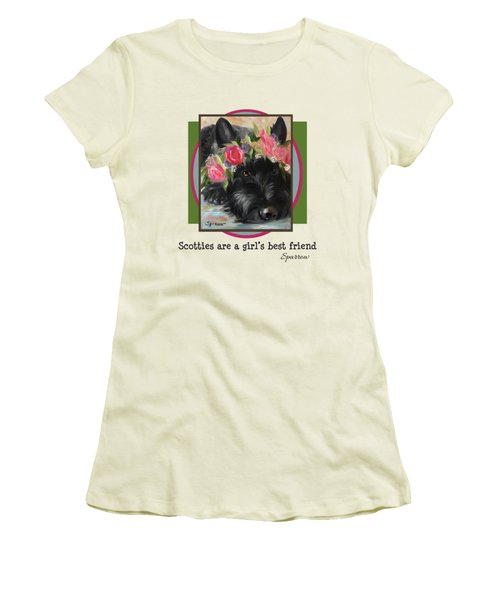 Scotties Are A Girl's Best Friend Women's T-Shirt (Athletic Fit)
