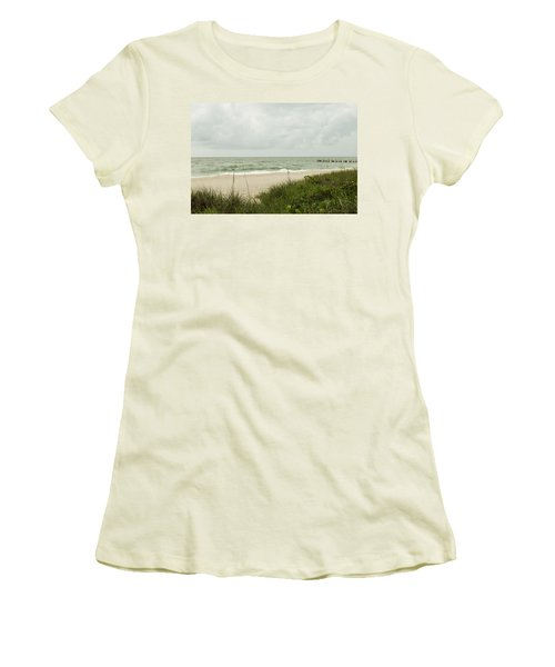 Sea Birds Awaiting The Rain Women's T-Shirt (Junior Cut) by Christopher L Thomley
