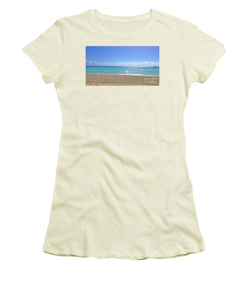 Women's T-Shirt (Athletic Fit) featuring the photograph Sea View M2 by Francesca Mackenney