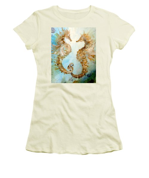 Seahorses In Love 2016 Women's T-Shirt (Athletic Fit)