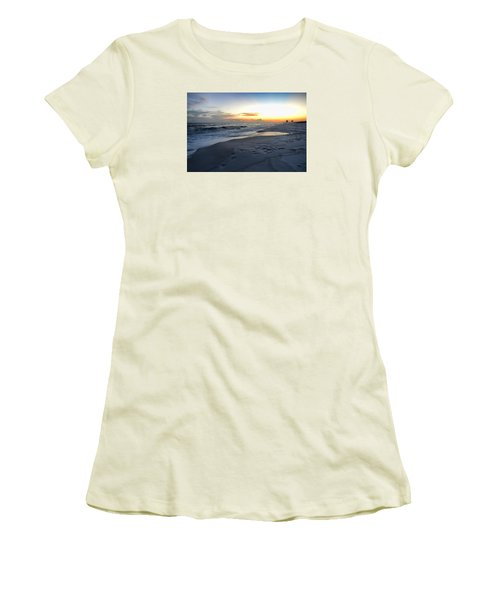Women's T-Shirt (Junior Cut) featuring the photograph Seaside Sunset by Renee Hardison