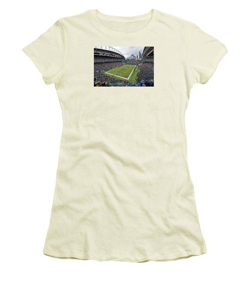 Seattle Seahawks Centurylink Field Women's T-Shirt (Athletic Fit)