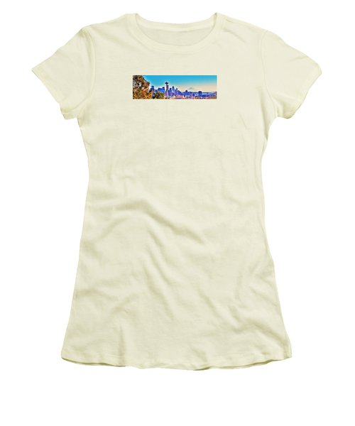 Seattle Sky Women's T-Shirt (Junior Cut) by Martin Cline