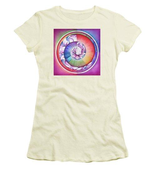 Seed Of Life - Mandala Of Divine Creation Women's T-Shirt (Junior Cut) by Anna Miarczynska