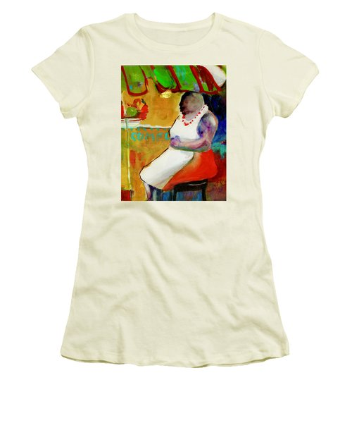 Selling Fruit In Colombia Women's T-Shirt (Athletic Fit)
