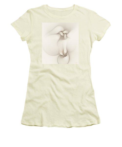 Women's T-Shirt (Junior Cut) featuring the digital art Sensual Manifestations 3 by Casey Kotas