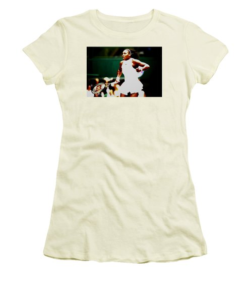 Serena Williams Making History Women's T-Shirt (Junior Cut) by Brian Reaves