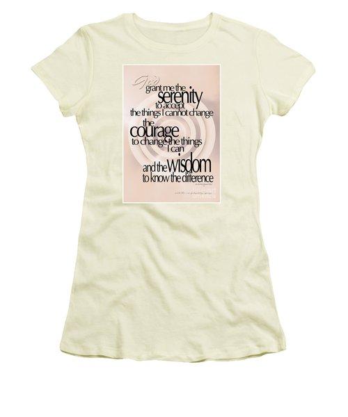 Women's T-Shirt (Junior Cut) featuring the photograph Serenity Prayer 06 by Vicki Ferrari