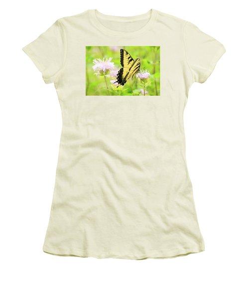 Series Of Yellow Swallowtail #4 Of 6 Women's T-Shirt (Junior Cut) by Joni Eskridge