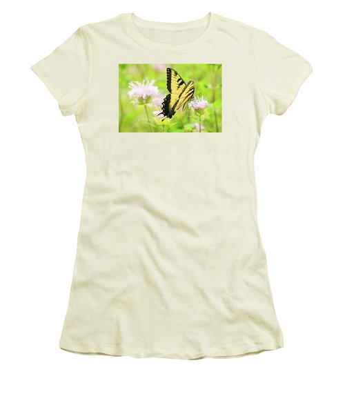 Series Of Yellow Swallowtail #4 Of 6 Women's T-Shirt (Athletic Fit)