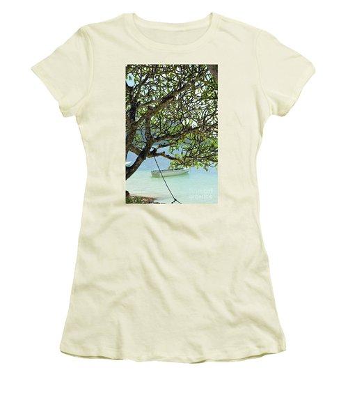 Women's T-Shirt (Junior Cut) featuring the digital art Seychelles Island by Eva Kaufman