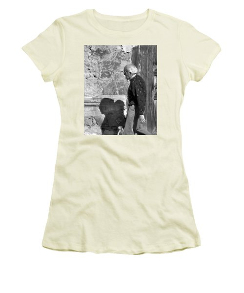Shadow Of A Man Women's T-Shirt (Junior Cut) by Jim Walls PhotoArtist