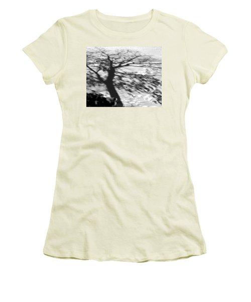 Shadow Tree  Herrick Lake  Naperville Illinois Women's T-Shirt (Junior Cut) by Michael Bessler