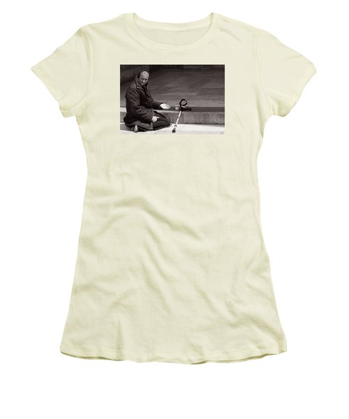 She Begs At The Cathedral Women's T-Shirt (Athletic Fit)
