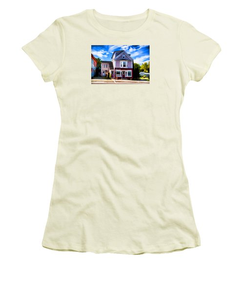 Women's T-Shirt (Junior Cut) featuring the photograph Shelbourne Bakery by Rick Bragan