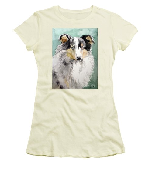 Shetland Sheep Dog Women's T-Shirt (Athletic Fit)