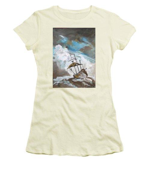 Ship In Need Women's T-Shirt (Junior Cut) by Carole Robins