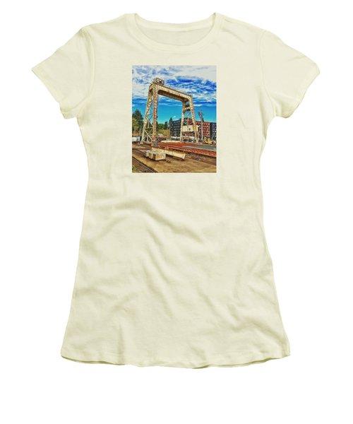 Shipyard Lunch Break Women's T-Shirt (Athletic Fit)
