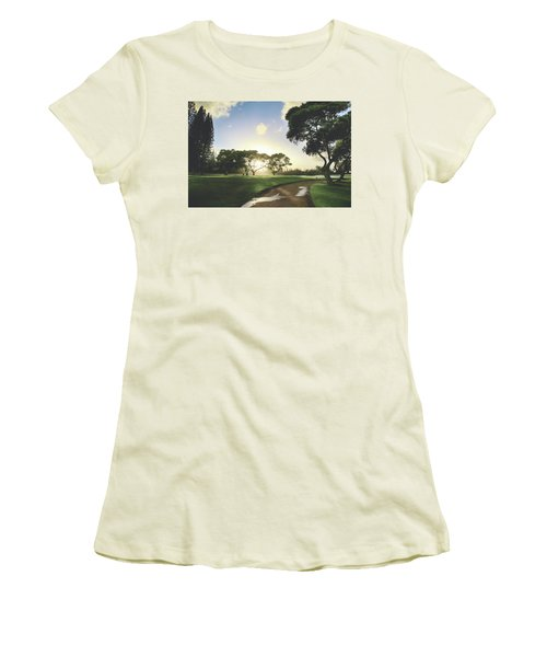 Women's T-Shirt (Junior Cut) featuring the photograph Show Me The Way by Laurie Search
