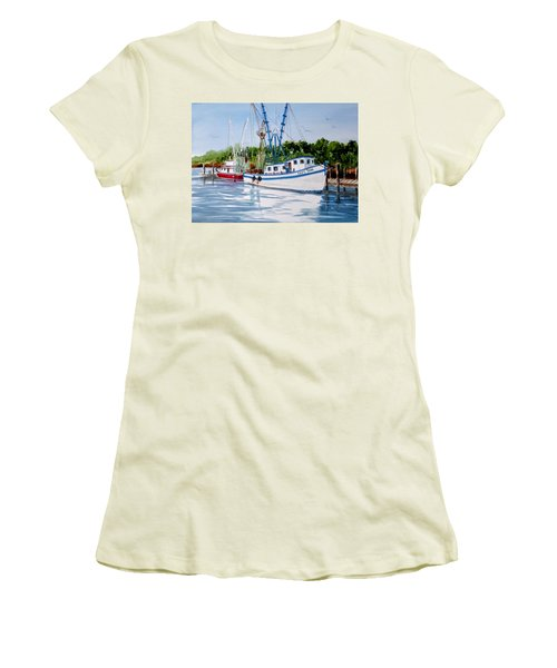 Shrimpers Women's T-Shirt (Athletic Fit)