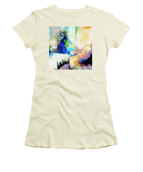 Women's T-Shirt (Junior Cut) featuring the painting Shuttle by Dominic Piperata