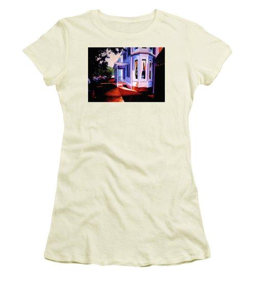 Side Street - Lambertville Women's T-Shirt (Junior Cut) by Robert Henne