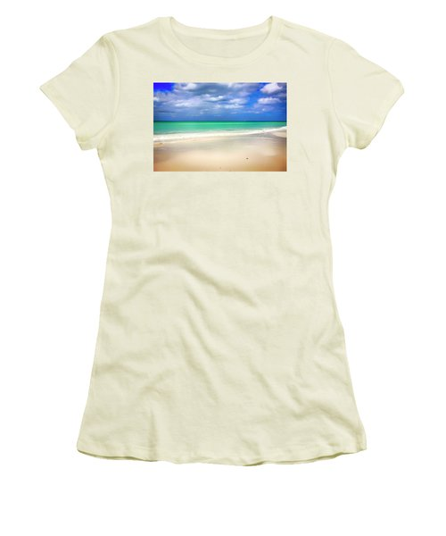 Siesta Key Beach Florida  Women's T-Shirt (Junior Cut) by Chris Smith