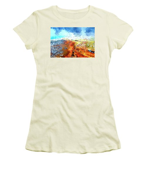 Silex Hot Springs Abstract Women's T-Shirt (Athletic Fit)