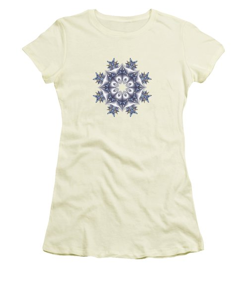 Silver Fractal Snowflake Women's T-Shirt (Athletic Fit)