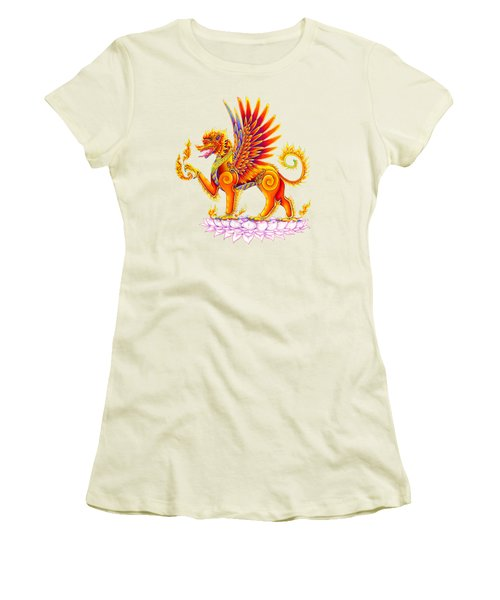 Singha Winged Lion Women's T-Shirt (Athletic Fit)