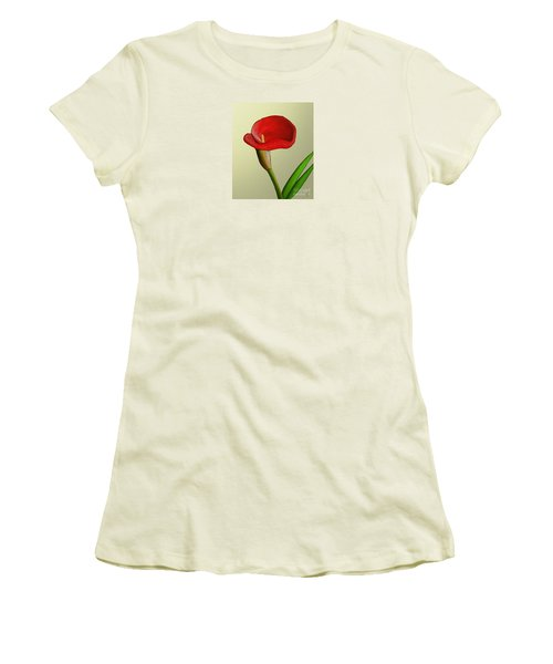 Women's T-Shirt (Junior Cut) featuring the painting Single Pose by Rand Herron