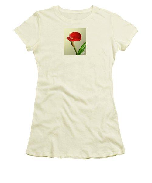 Single Pose Women's T-Shirt (Junior Cut) by Rand Herron