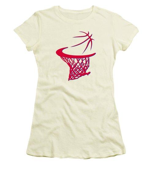 Sixers Basketball Hoop Women's T-Shirt (Junior Cut) by Joe Hamilton