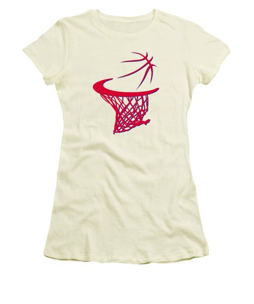 Sixers Basketball Hoop Women's T-Shirt (Athletic Fit)