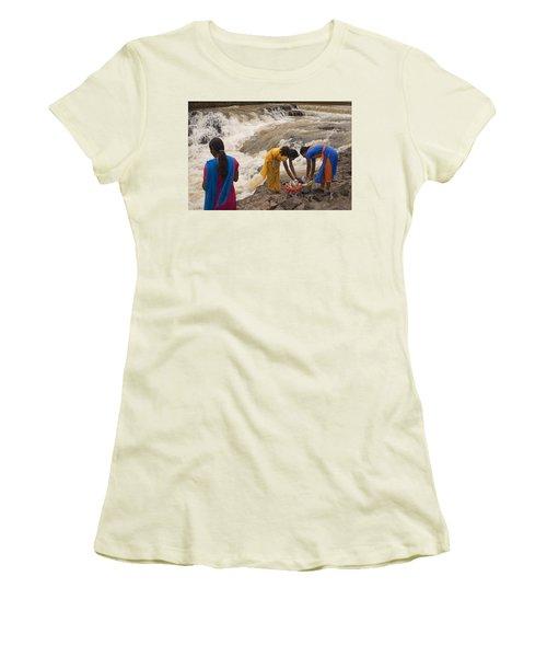 Skc 2621 A Collective Task Women's T-Shirt (Junior Cut) by Sunil Kapadia